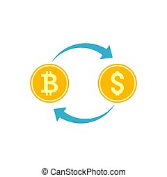 Cryptocurrency Exchange Vector Icon