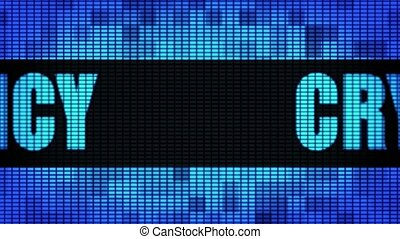 Cryptocurrency Front Text Scrolling LED Wall Pannel Display...