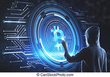 cryptocurrency, hacher, concept