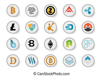 cryptocurrency icon ideas design vector illustration graphic...