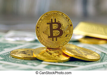 cryptocurrency, image, system., version, money), conceptuel...