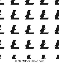 Cryptocurrency litecoin seamless business pattern free trade