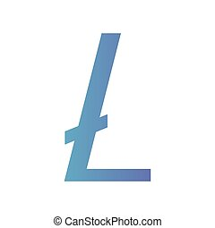 cryptocurrency litecoin symbol isolated icon vector...