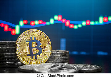 cryptocurrency, marché, échange, bitcoin, commerce