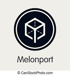cryptocurrency, melonport, -, pictogram.