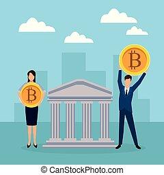 cryptocurrency, pareja, empresa / negocio, tenencia