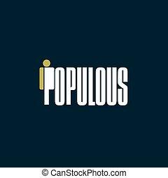cryptocurrency, populous, moneda, aislado, señal