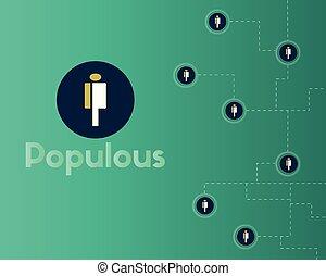 cryptocurrency, populous, tecnología, plano de fondo, ...