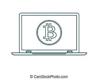 cryptocurrency technology, Stock flat vector illustration.