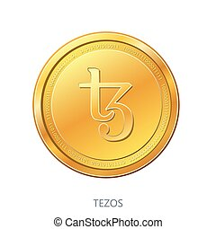 Cryptocurrency Tezos gold coin. - Cryptocurrency Tezos coin ...