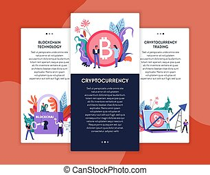 Cryptocurrency trading and blockchain technology online...