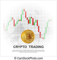 Cryptocurrency trading background