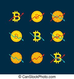 Cryptocurrency Up Down Graph