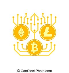 Cryptocurrency Vector Icon