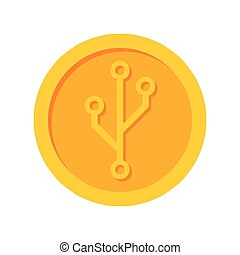 Cryptocurrency Vector Icon - Cryptocurrency icon for...