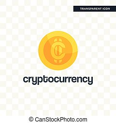 cryptocurrency vector icon isolated on transparent background, cryptocurrency logo design