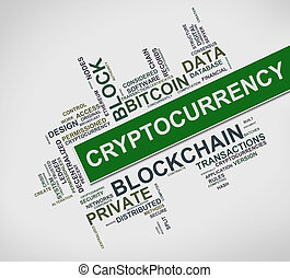Cryptocurrency wordcloud tags