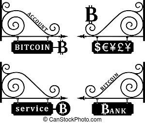 cryptocurrency, -, wskazówka, bitcoin