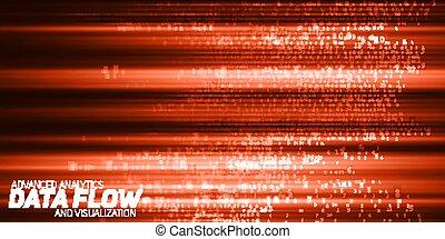 cryptographic, informacja, kodeks, representation., potok, strings., cielna, abstrakcyjny, visualization., blockchain, potok, wektor, data., takty muzyczne, kodowany, transfer., bitcoin, dane, czerwony, analysis.