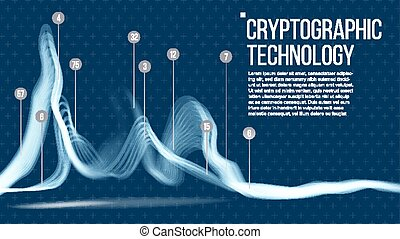 Cryptographic Technology Background Vector. Big Data ...