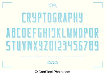 cryptography - 3d style alphabet letters and numbers....