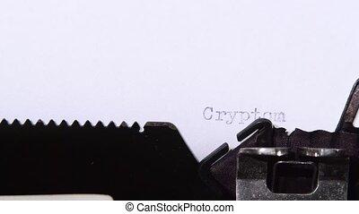 cryptomining, mot, ferme, paper., haut fin, morceau
