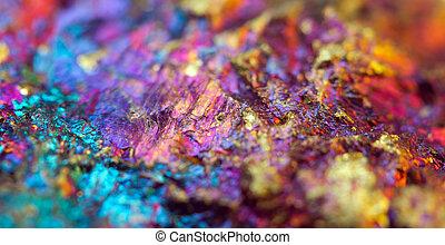 crystal., ásvány, ügy, sikeres, macro., fém, tervezés,...