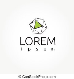 Crystal abstract logo template. Vector