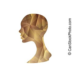 Crystal Abstract Woman's Silhouette