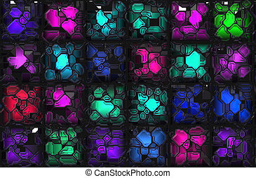 Crystal Background - Crystal Colorful Futuristic Gems as a...