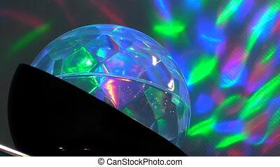Crystal ball effect seamless loop - Illuminated disco glass...
