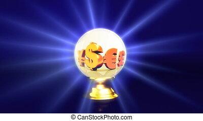 crystal ball future dollar sign