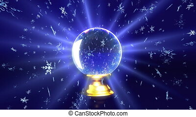 crystal ball future snow - The background of snow flare...