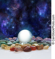 Crystal ball, healing crystals and the Universe
