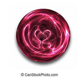 crystal ball heart