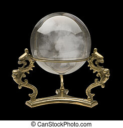 Crystal Ball isolated on a black background