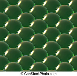 crystal ball overlap pattern green