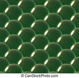 crystal ball overlap pattern green