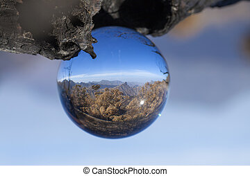 crystal ball photography - Caldera de Tejeda