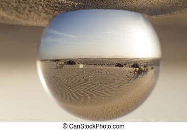 crystal ball photography - Dunes of Corralejo,...