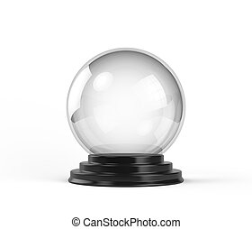 Crystal Ball - Empty Crystal Ball isolated on white...