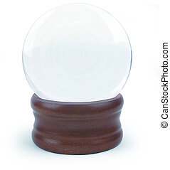 Crystal ball - A crystal ball on white, or an empty snow...