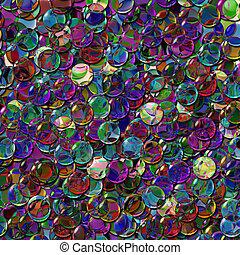 crystal balls mix color transparent