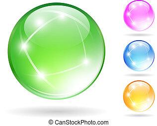 Crystal balls set