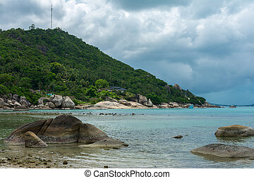 Crystal Bay, Silver Beach beach view at Koh Samui island, Thailand
