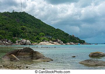Crystal Bay, Silver Beach beach view at Koh Samui island, Thailand