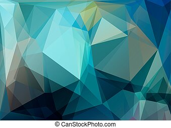 crystal blue background - Polygonal crystal background with...