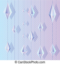 crystal blue lilac party garland