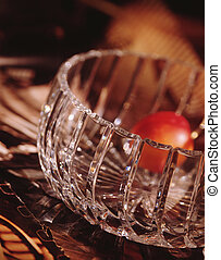 Crystal bowl and nectarine - Picture of Crystal bowl and...