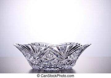 crystal bowl - close up of the empty crystal bowl